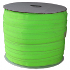 Fold Over Elastic 1 inch Neon green (100m roll)
