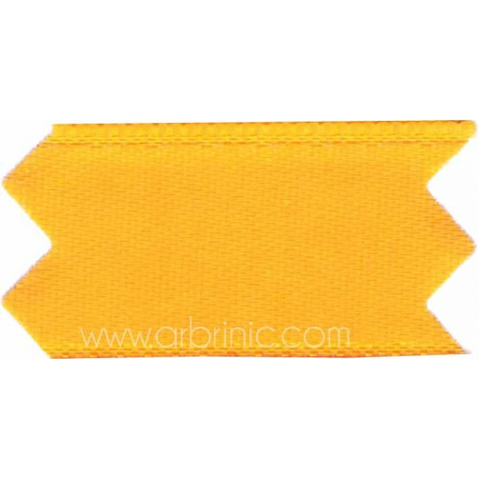 Satin Ribbon double face 25mm Orange Yellow (by meter)