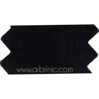 Satin Ribbon double face 25mm Black (by meter)