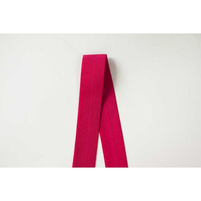 Biais élastique 2.5cm Fuchsia pink (1m)
