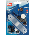 Jeans buttons 14mm Bronze laurels with tool (x8)