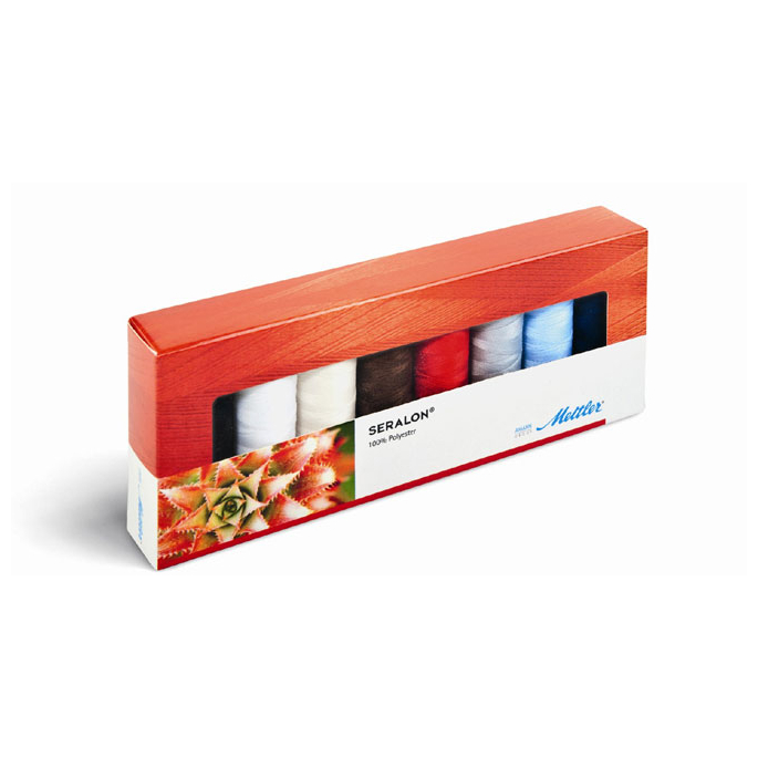 Mettler Polyester Sewing Thread - 8 bobins Kit (8x200m)