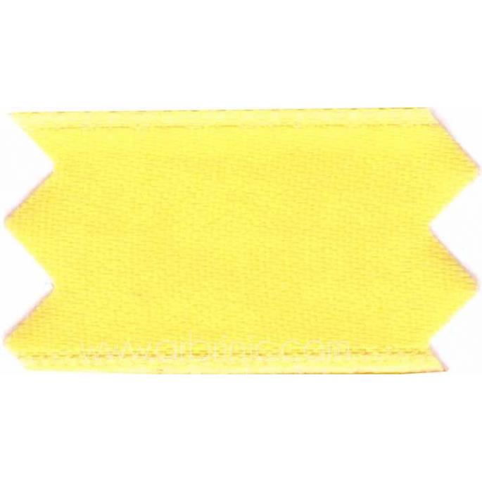 Ruban Satin double face 11mm Jaune Citron (au mètre)