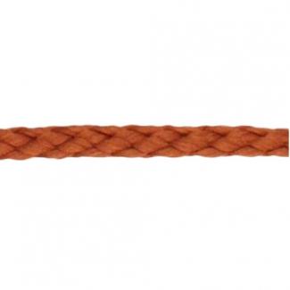 Cordon Anorak - tresse plate 5mm Marron (au mètre)