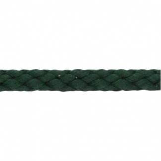 Cordon Anorak - tresse plate 5mm Vert Foncé (au mètre)