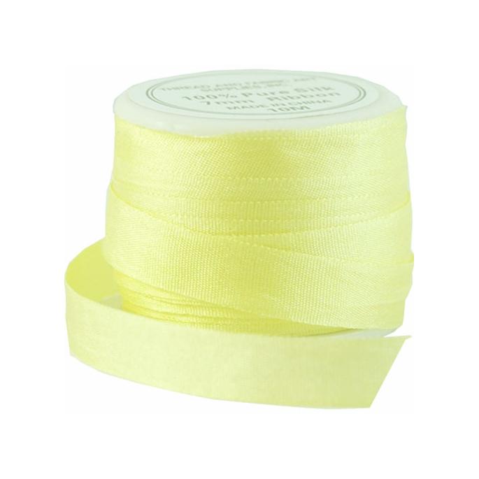 Silk Ribbon 7mm Yellow (10m spool)