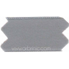 Satin Ribbon double face 11mm Grey (by meter)