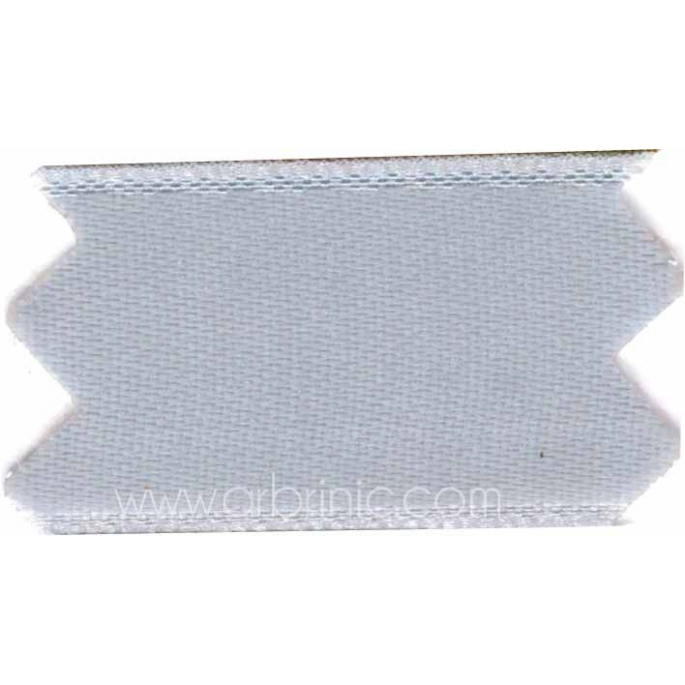Satin Ribbon double face 11mm Light Grey (by meter)