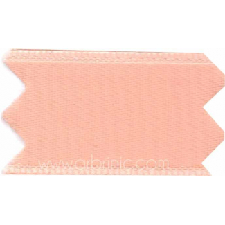 Ruban Satin double face 11mm Rose Pêche (au mètre)