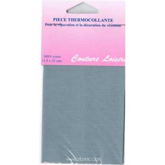 Pièce thermocollante - Percale coton Gris Clair