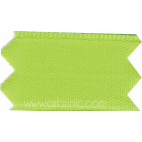 Satin Ribbon double face 25mm Green (by meter)
