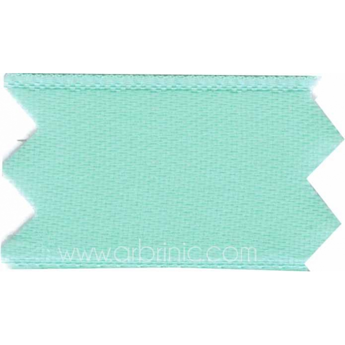 Satin Ribbon double face 25mm Light Turquoise (by meter)