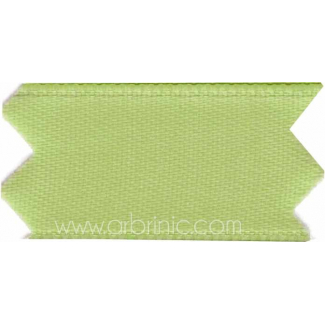 Satin Ribbon double face 11mm Light Green (by meter)