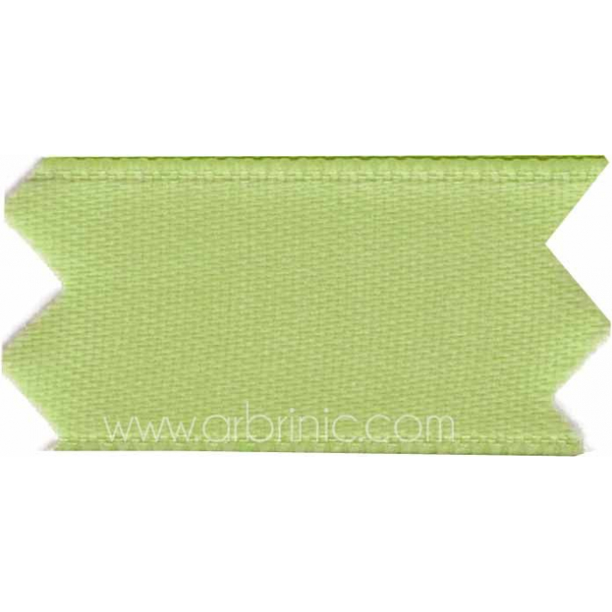 Satin Ribbon double face 25mm Light Green (by meter)