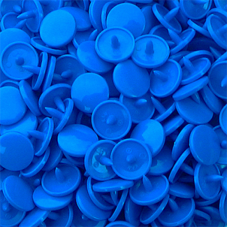 Pressions KAM T3 - Bleu aqua B8 - 100 jeux RONDS