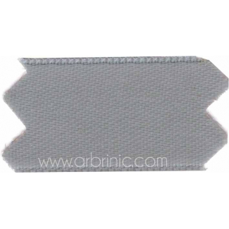 Satin Ribbon double face 25mm Grey (by meter)