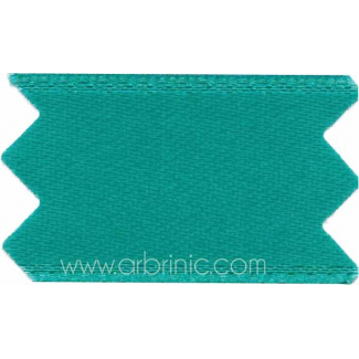 Satin Ribbon double face 11mm Dark Turquoise (by meter)