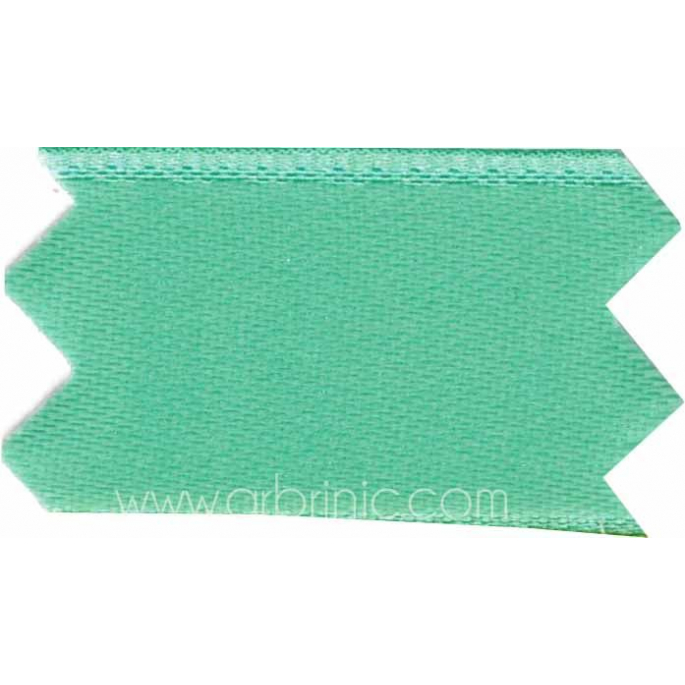 Satin Ribbon double face 11mm Turquoise (by meter)
