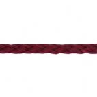 Cordon Anorak - tresse plate 5mm Bordeau (au mètre)