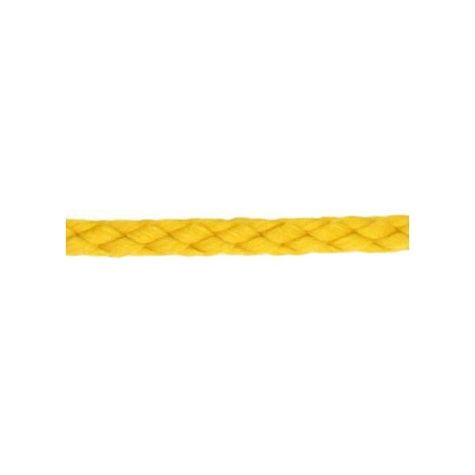 Braided Poly Cord 5mm Yellow (by meter)
