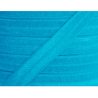 Shinny Fold Over Elastic Oekotex 15mm Turquoise (by meter)