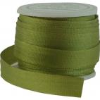 Ruban Soie 7mm Olive (bobine 10m)