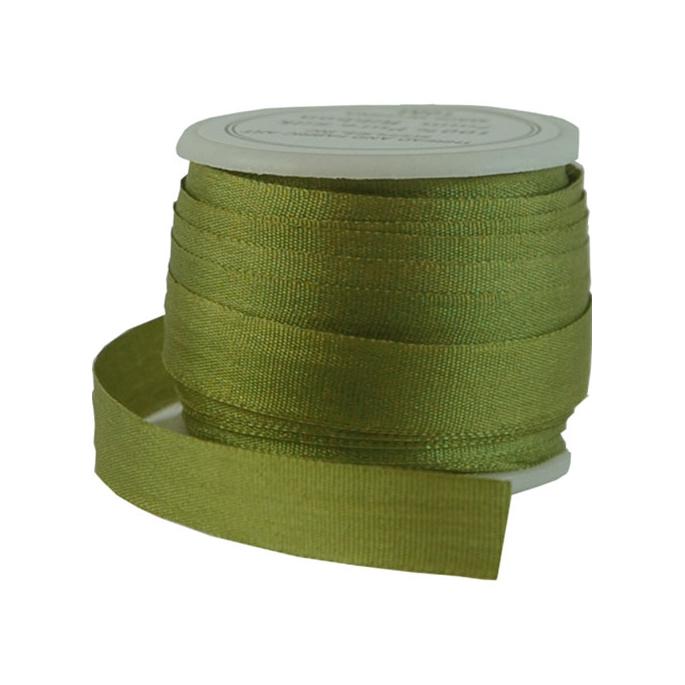 Silk Ribbon 7mm Olive (10m spool)