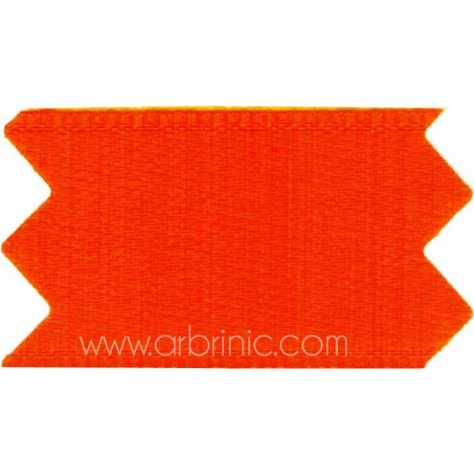Ruban Satin double face 25mm Orange (au mètre)