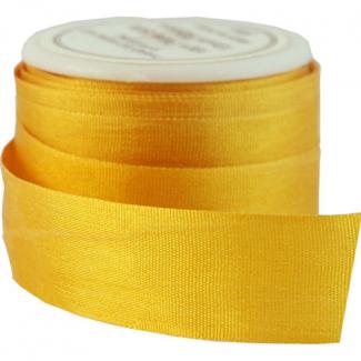 Ruban Soie 13mm Bouton d'Or (bobine 5m)