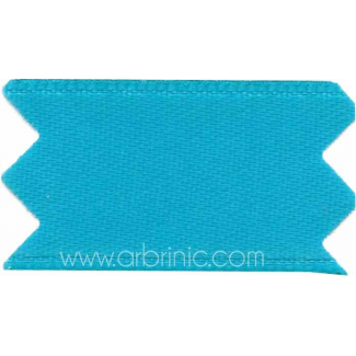 Ruban Satin double face 11mm Bleu Aqua (au mètre)