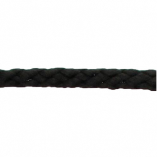 Braided Poly Cord 5mm Black (by meter)