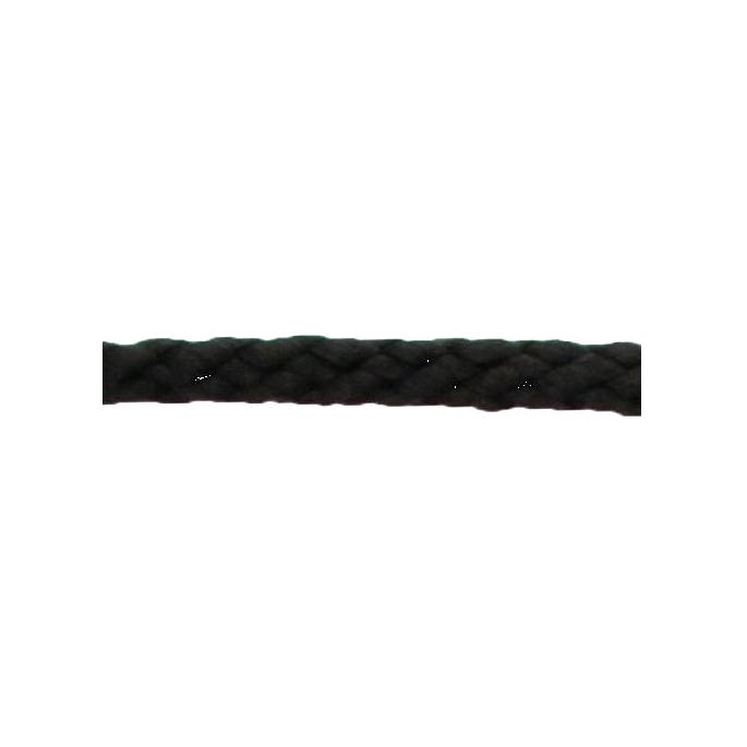 Cordon Anorak - tresse plate 5mm Noir (au mètre)