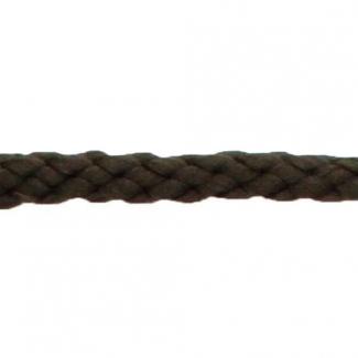 Cordon Anorak - tresse plate 5mm Marron Foncé (au mètre)