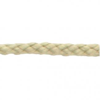 Cordon Anorak - tresse plate 5mm Ecru (au mètre)