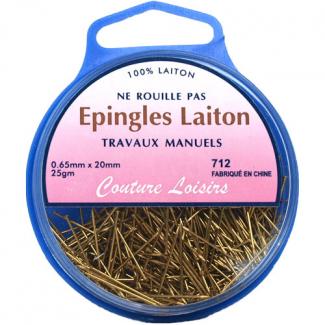 Epingles Travaux Manuels en Laiton 20mm (x450)