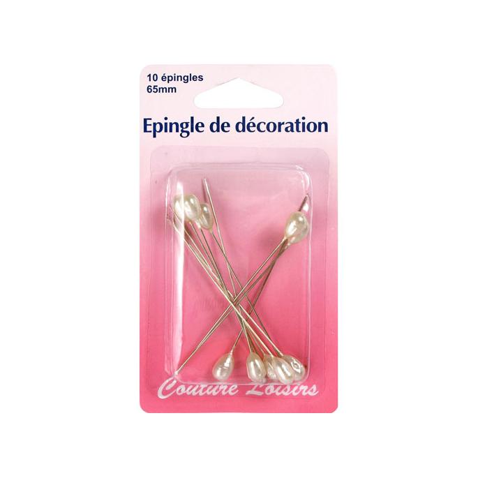 Embellishement Pins 65mm long (x10)