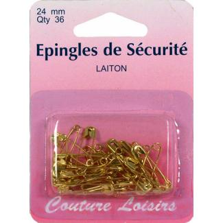 Safety Pins brass 24mm (x36)