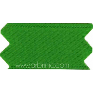 Satin Ribbon double face 25mm Kelly Green (by meter)