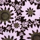Minky - Fleurs Roses chocolat - Robert Kaufman (au mètre)