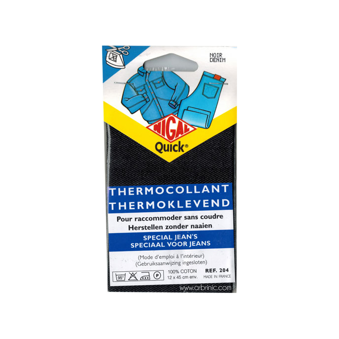 Pièce thermocollante NIGAL Quick - Jeans Denim Noir