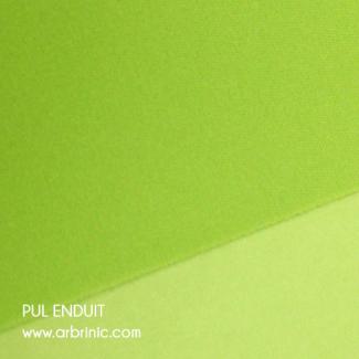 PUL Oekotex Enduit Vert Lime (par 10cm)