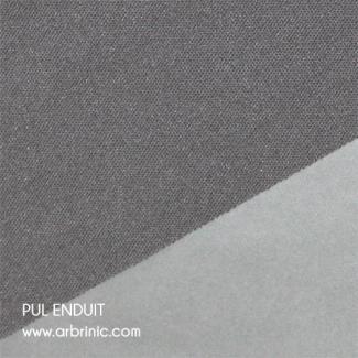 PUL Oekotex Enduit Gris Excalibur (par 10cm)