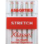 Machine needles Stretch Assorted sizes 75-90 (x5)
