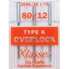 Machine needles Overlock 80/12 for Singer (x3)