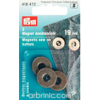 Magnetic sew-on Buttons 19mm Bronze (x3)