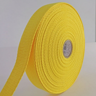Sangle coton 23mm Jaune (au mètre)