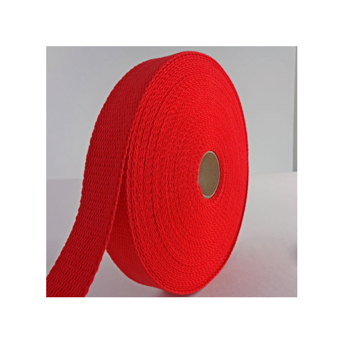 Sangle coton 30mm Rouge (bobine 15m)