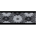 Lace Floral Ribbon 40mm - Blanc (by meter)