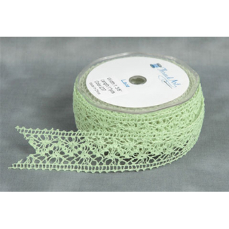 Lace Ribbon Green color 20mm (by meter)
