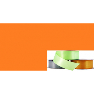 Satin Ribbon 25mm Orange (20m roll)